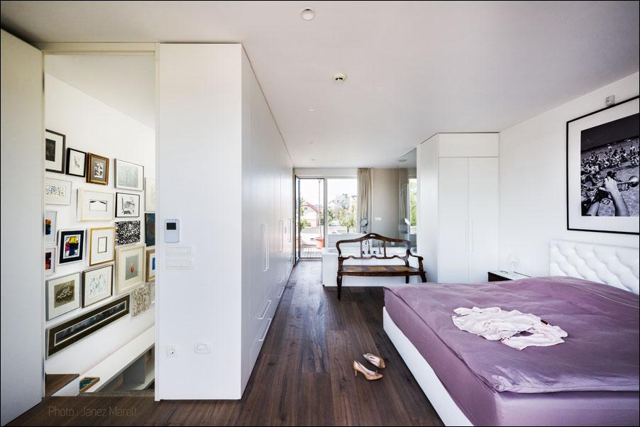 Demšar arhitekti - Hiša Caspar - spalnica