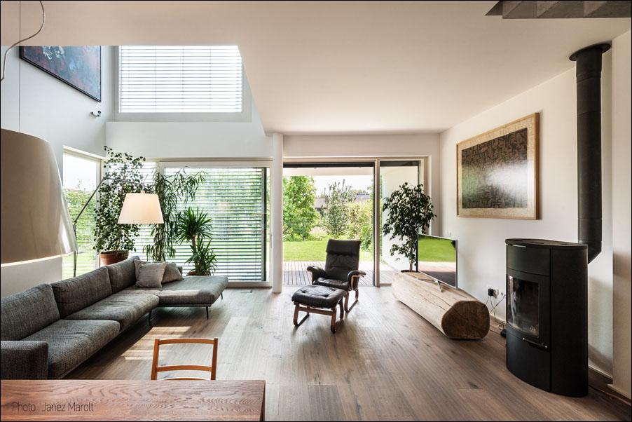 Demšar arhitekti - Hiša Caspar - dnevna soba