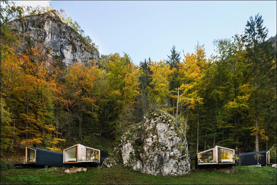 Ekokoncept-Bled- hiške pod gozdom - Zaka, Bled