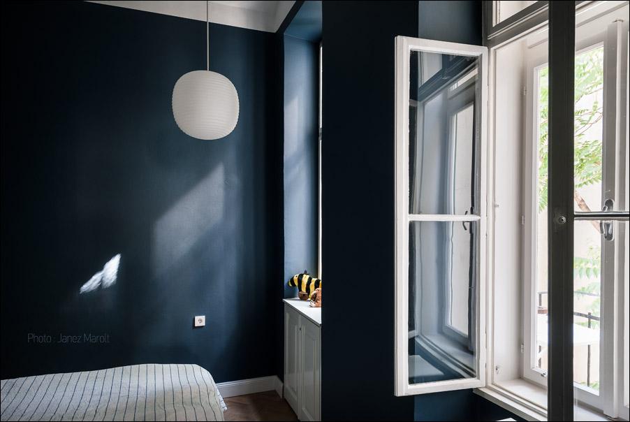 Kombinat arhitekti - stanovanje na Dunaju - spalnica