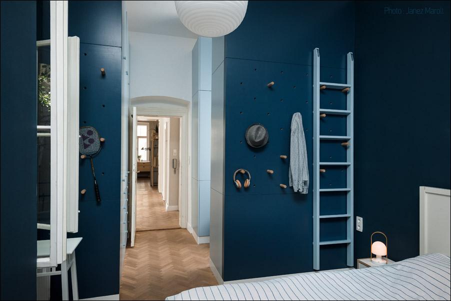 Kombinat arhitekti - stanovanje na Dunaju - pogled iz spalnice