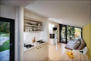 Ekokoncept-Bled- kuhinja in bivalni prostor