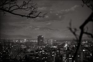 Zimska Situla - Črno bela slika z Gradu