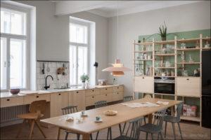 Kombinat arhitekti - stanovanje na Dunaju - jedilnica