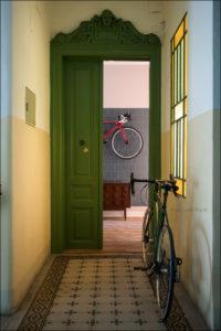 Kombinat arhitekti - stanovanje na Dunaju - vhod