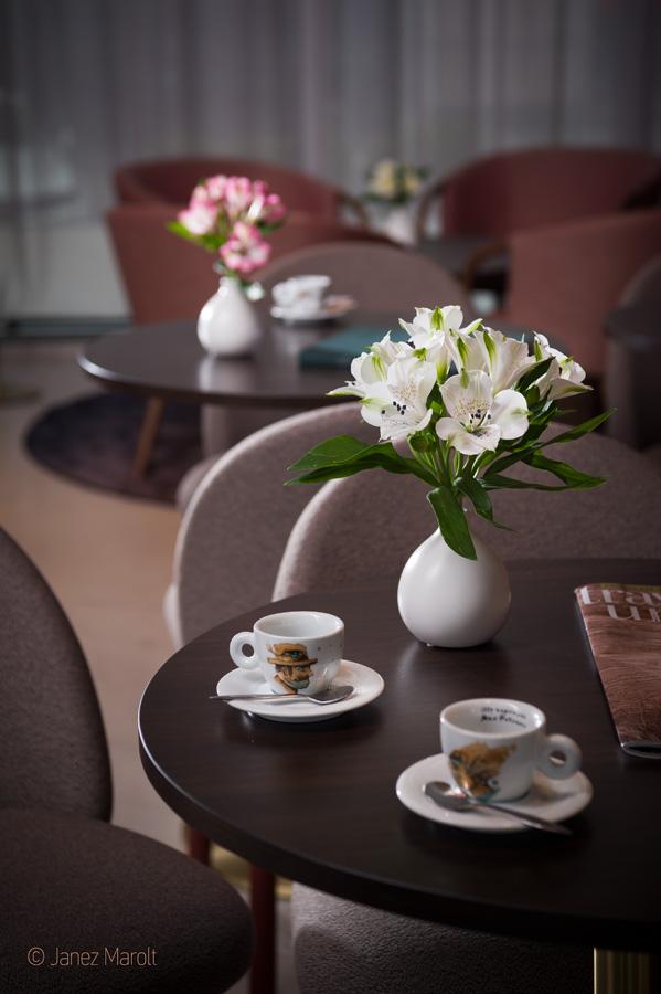 Fotografiranje hotelov - Hotel Lev, impresija iz kavarne