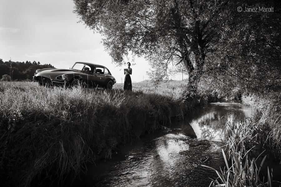 Slika koledarja starodobnikov - Marolt photography 2020 - Jaguar E-Type series 3, V12 1971