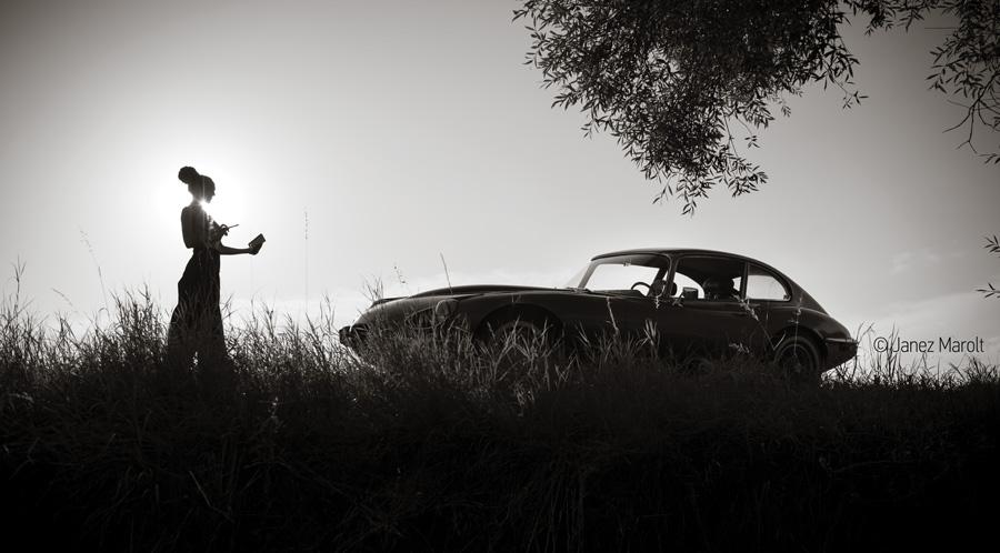 Koledar starodobnikov - Marolt photography 2020 - Jaguar E-Type series 3, V12 1971 - Naslovna slika