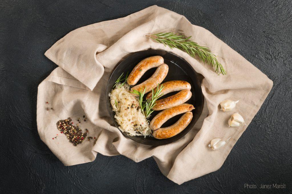 Image fotografiranje hrane: Janez Marolt - Pečenice z zeljem
